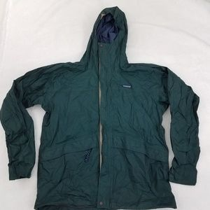Patagonia Jacket M L Green Full Zip Windbreaker Se